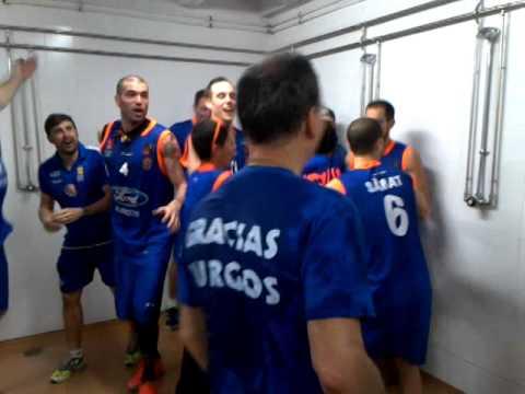 Ford Burgos asciende a ACB: La fiesta del vestuario