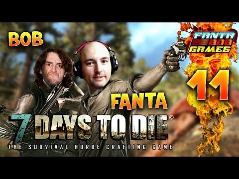 7Days To Die - Ep.11 : LUNE DE SANG! - Fanta et Bob COOP Let's Play Survie Zombie