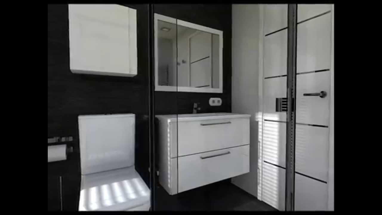 Dise o interior cuartos de ba o en blanco y negro youtube for Cuartos de bano en blanco y gris