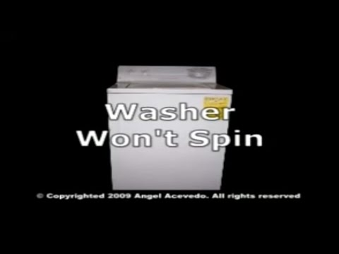 GE front serviceable washer not spinning