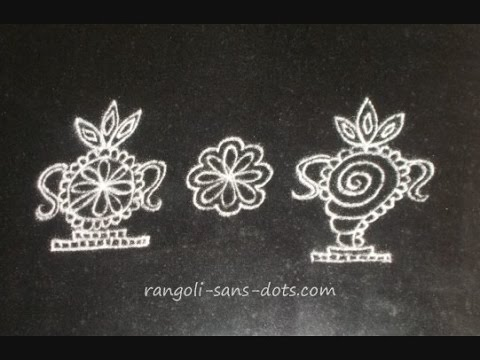 rangoli designs / kolam designs -  for Puja room or festivals