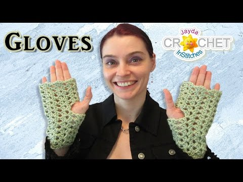 Texting Gloves - Fingerless Pattern in the Split Shell Stitch