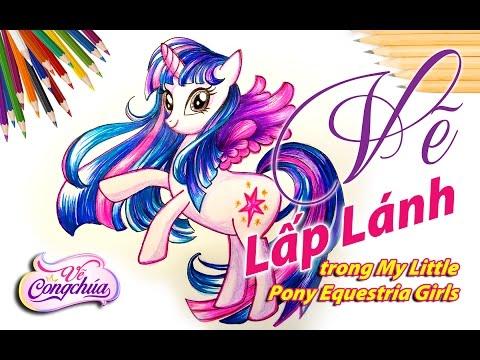 Cách Vẽ Pony Lấp lánh (Twilight Sparkle) trong phim hoạt hình My Little Pony Equestria Girls