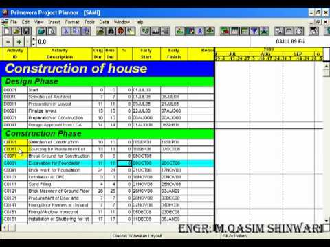 Primavera project planner 3 part 5 of 13 for Project planner hd