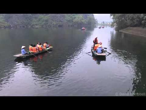 Drone Camera footage from Tràng An (Chang'an) , Ninh Bình, Vietnam