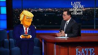 Cartoon Donald Trump Can't Stop Tweeting