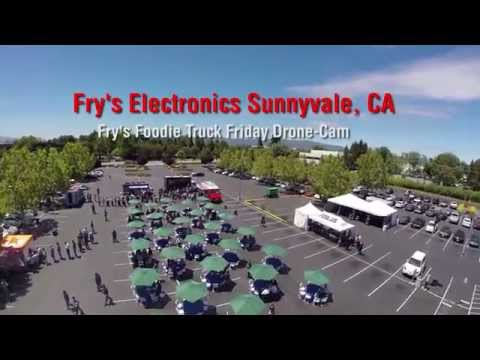Fry's Foodie Truck Friday Drone-Cam Sunnyvale, CA Fry's Electronics