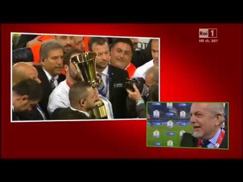 Intervista al presidente De Laurentis - Coppa Italia 2014 - (Napoli-Fiorentina 3-1)