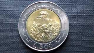MONETE DA 500 LIRE DELLA REP. DI S. MARINO.