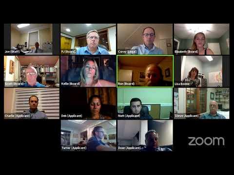 Plattsburgh Zoning Board of Appeals Mtg.  8-17-20