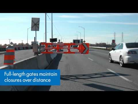 Lane closures and openings - Montreal A40 highway