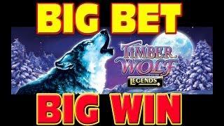 Timber Wolf Legends BIG BET + MEGA WIN Las Vegas Slot