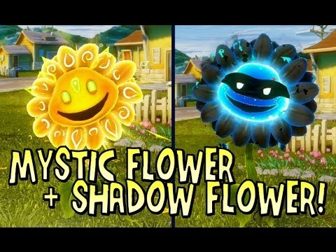 Plants vs Zombies Garden Warfare: MYSTIC & SHADOW FLOWERS! [Rare Character Showcase]