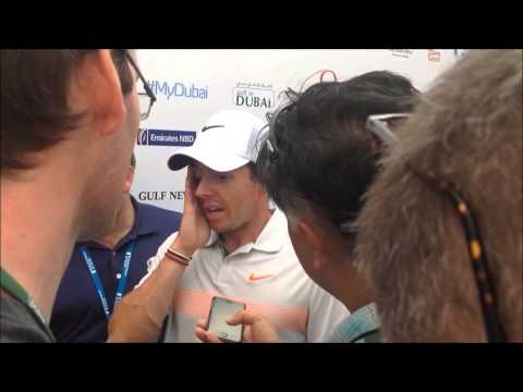 Rory Mcilroy clip after his 2nd round at the 25th Omega Dubai Desert Classic 2014