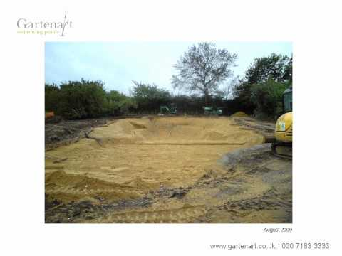 Conversion of a lake to a swimming pond
