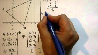 Área de un triangulo dadas sus coordenadas