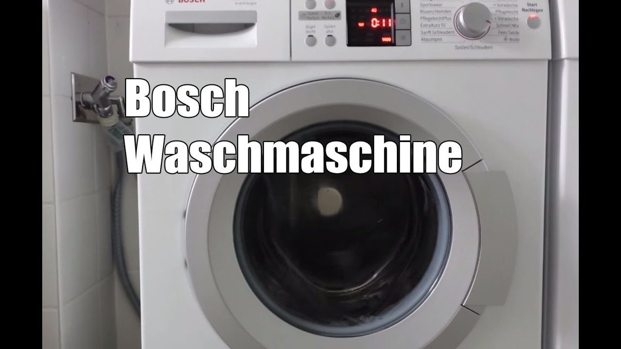 bosch waq284a1 waschmaschine test youtube. Black Bedroom Furniture Sets. Home Design Ideas
