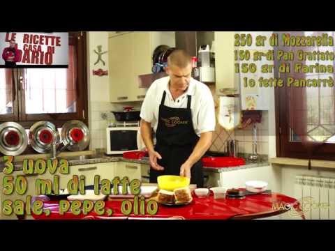 La mozzarella in carrozza preparata e fritta da Dario con Magic cooker 194