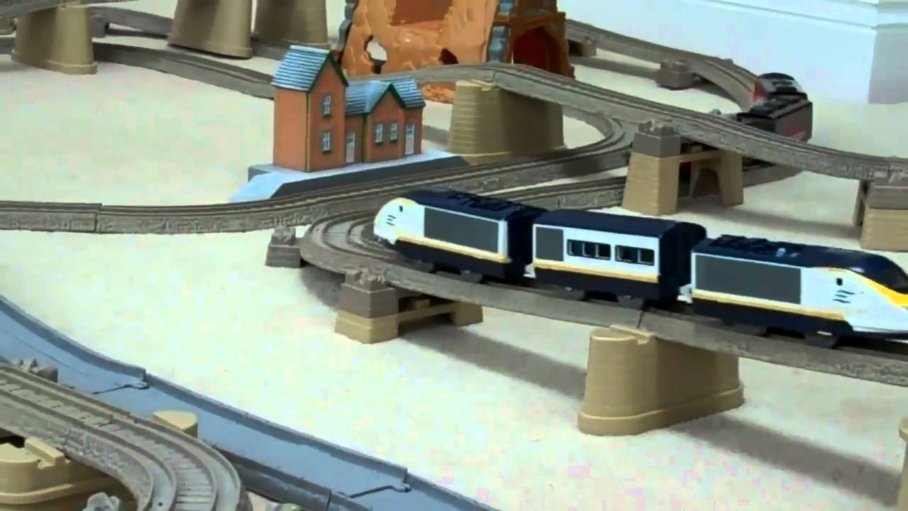 Thomas amp friends trackmaster train set with tomy tomica eurostar
