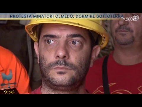 Dormire sottoterra: la protesta dei minatori di Olmedo (SS)