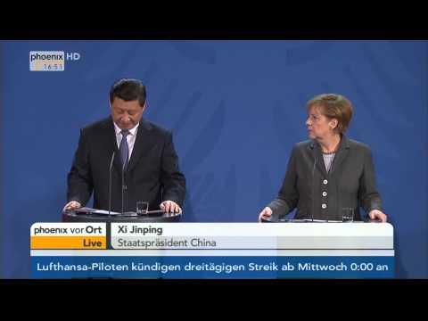 Staatsbesuch von Xi Jinping - PK von Angela Merkel & Xi Jinping am 28.03.2014