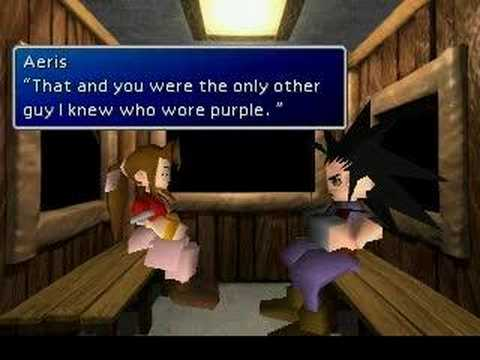 "The infamous Final Fantasy VII ""Date Scene"""