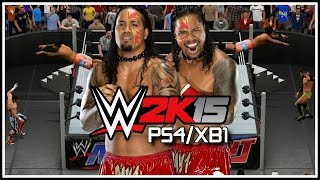 WWE 2K15 PS4/XB1 The Usos Get Crazy! Stereo Suicide Dive