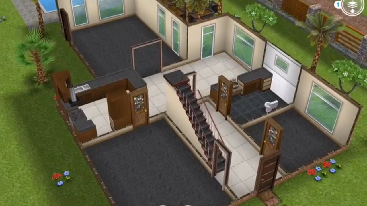 Two Story Unfurnished House Sims Freeplay Youtube