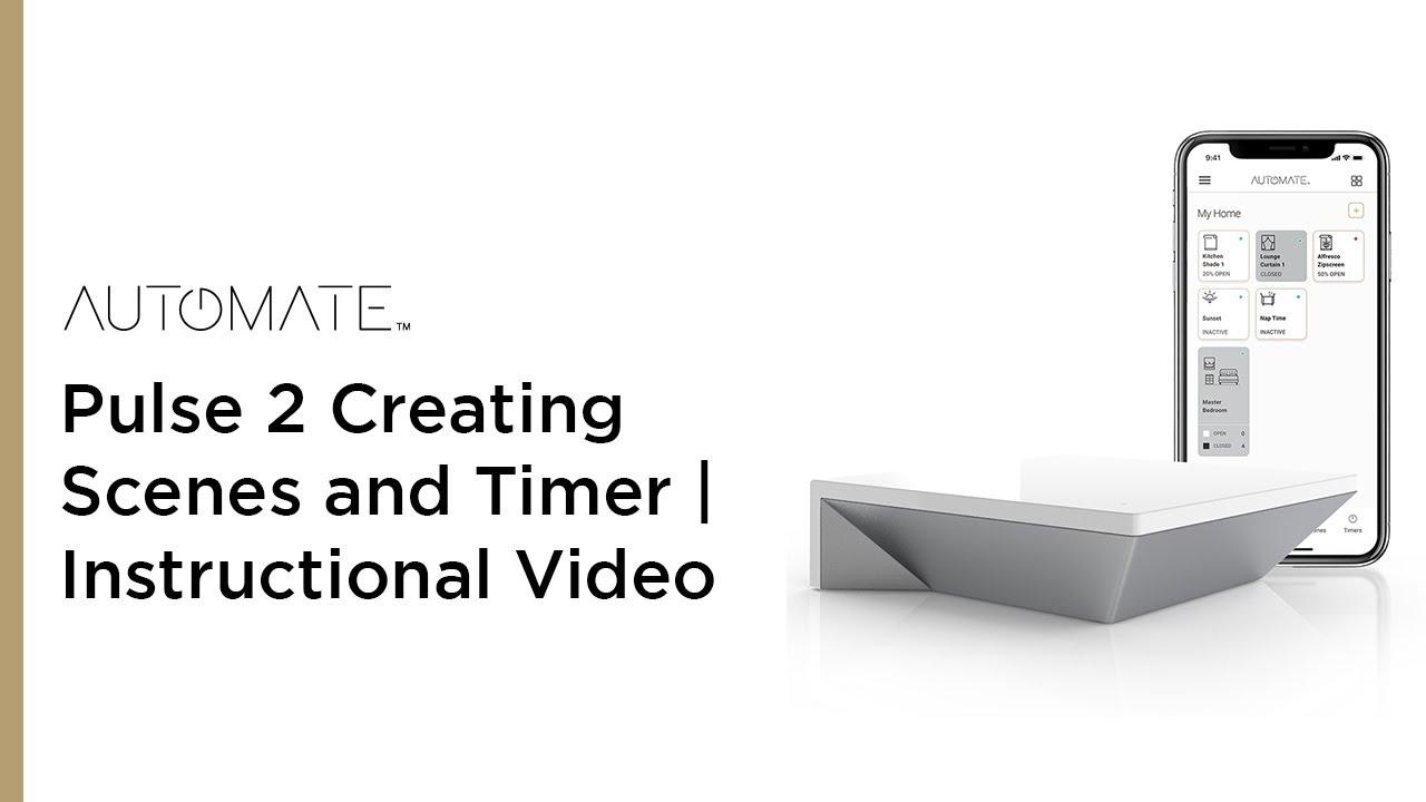 Pulse 2 Scenes and Timer Setup