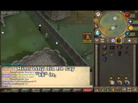 Runescape Anti-Lure with Skype Reaction (HALARIOUS) | Kid cries over a ZGS |