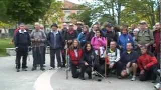 Los peregrinos desafiaron a la lluvia en la segunda etapa del Camino de San Frutos