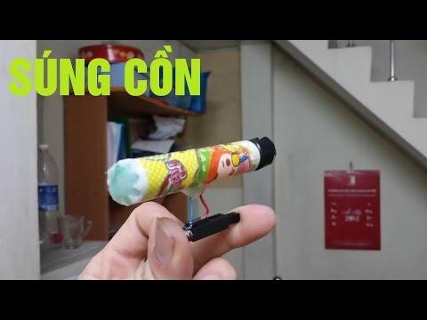 Đồ chơi vũ khí: Làm súng cồn từ vỏ bút và bật lửa điện