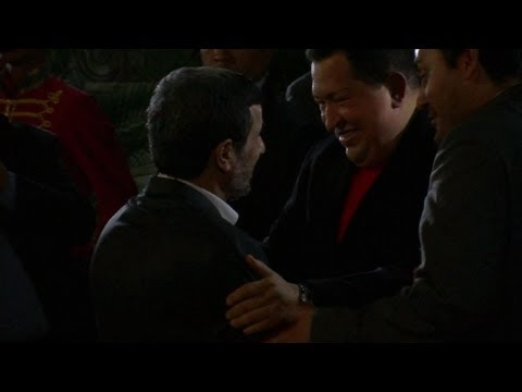 Ahmadinejad y Chávez en Venezuela