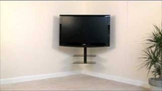 tv on wall corner. avf cornermount - the all-in-one corner solution for your tv and av accessories youtube tv on wall a