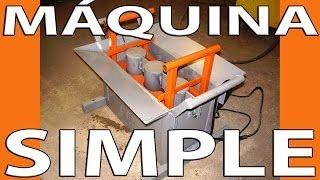 Máquina simple para hacer bloques de cemento.