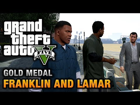 GTA 5 - Intro & Mission #1 - Franklin and Lamar [100% Gold Medal Walkthrough],