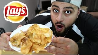 DIY LAY'S CHIPS!! (HOW TO MAKE POTATO CHIPS)