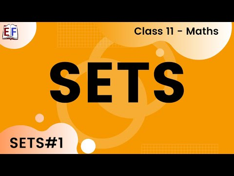 Maths Sets Part 1 (Set Concept and Conventions )  Mathematics CBSE Class X1
