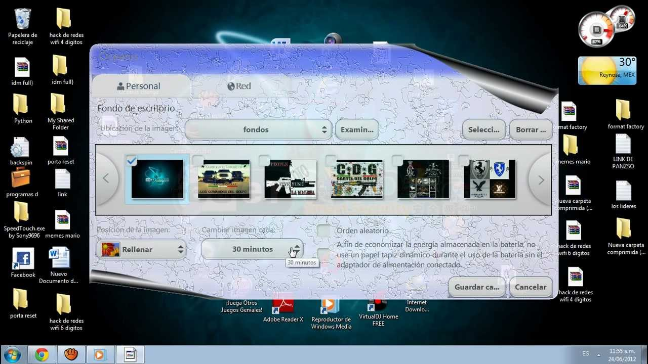 Como cambiar el fondo de pantalla de mi pc windows 7 starter youtube - Como cambiar fondo de escritorio windows 7 starter ...