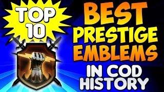 """BEST PRESTIGE EMBLEMS"" In Cod History (Top Ten - Top 10) Call of Duty Breakdown"