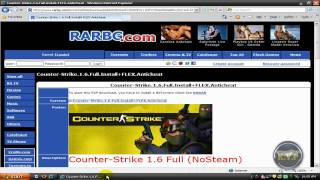How To Download Counter Strike 1.6 Online Play.