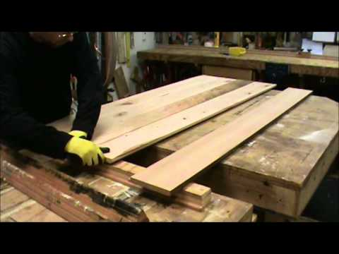 Building a Reclaimed Wood Tabletop - YouTube