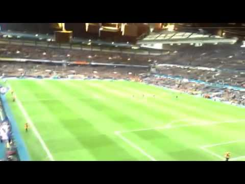Chelsea Fans Chant for Didier Drogba at Final Whistle v Galatasary 2014