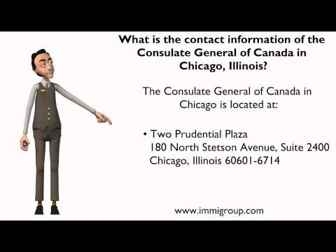 What is the contact information of the Consulate General of Canada in Chicago, Illinois?
