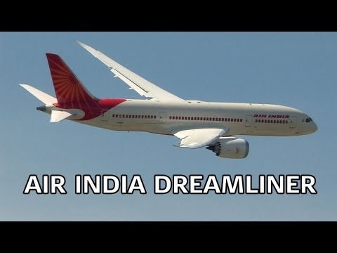 Air India Boeing 787 Dreamliner Display Paris 2013