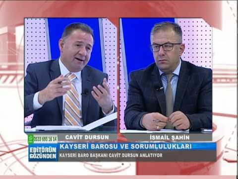 28.11.2016 BARO BAŞKANIMIZ AV.CAVİT DURSUN TV1 TEL