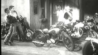 "Motorcycle ""Gang"" Movie Trailer 1950's"