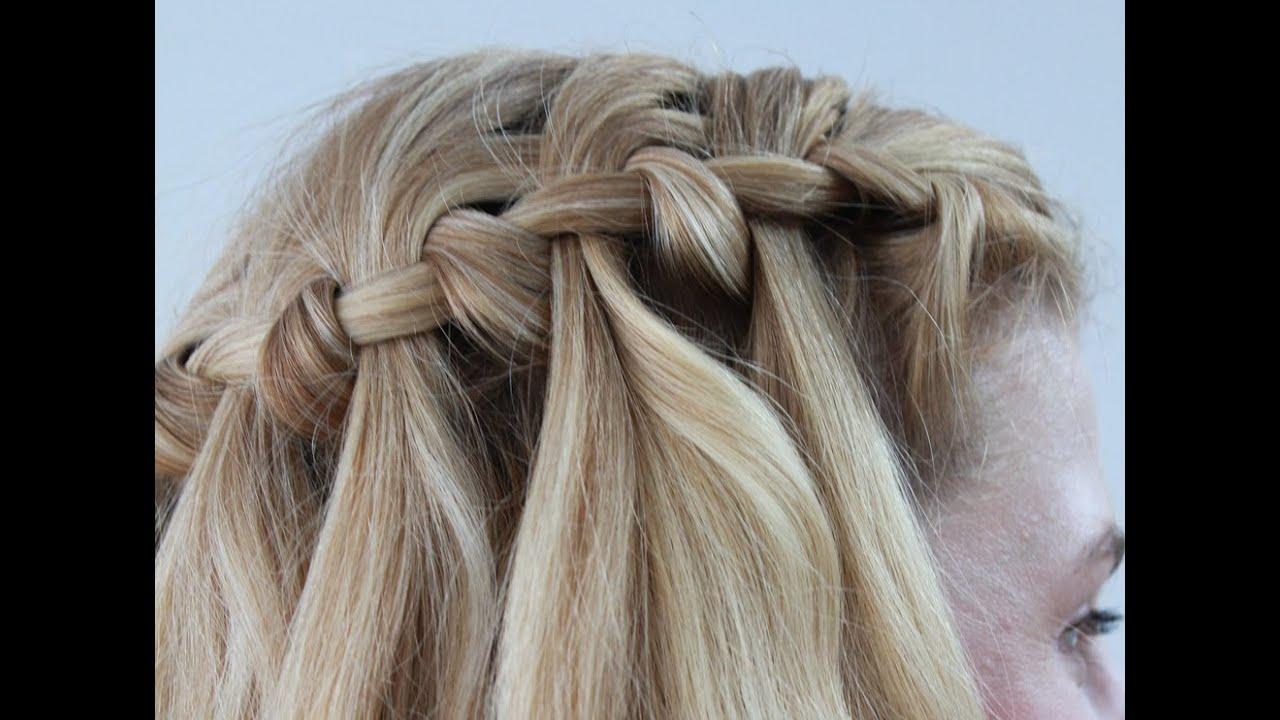 Waterfall Hairstyles Dailymotion Waterfall Braid Hairstyles