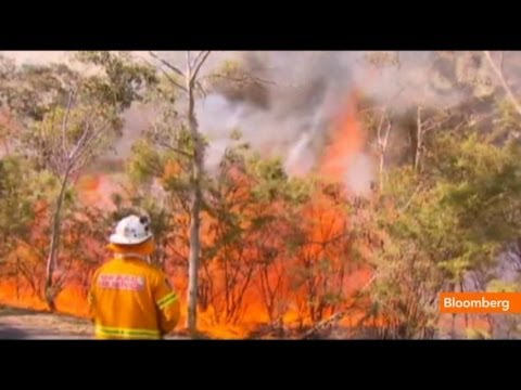 Raw Video: Wildfire Emergency in Australia