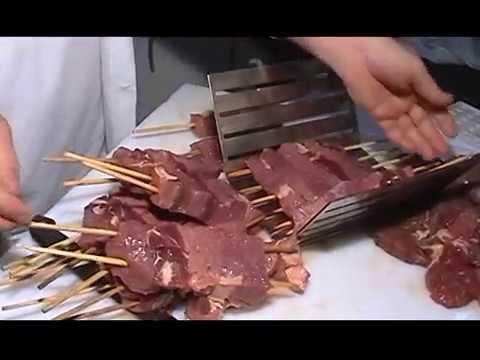 Formadoras de espetos de  churrasco e queijo de inox 304
